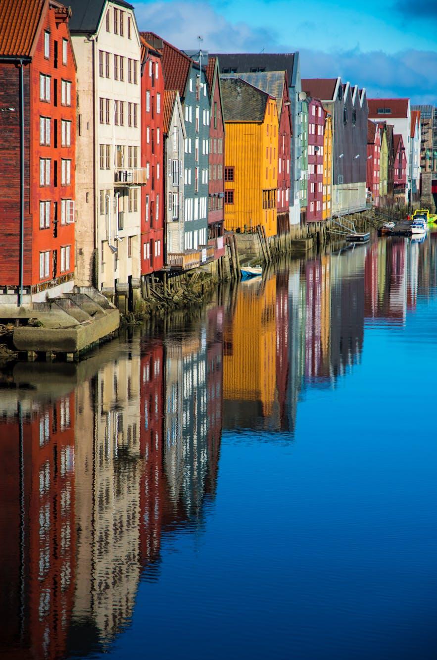 Trondheim city view