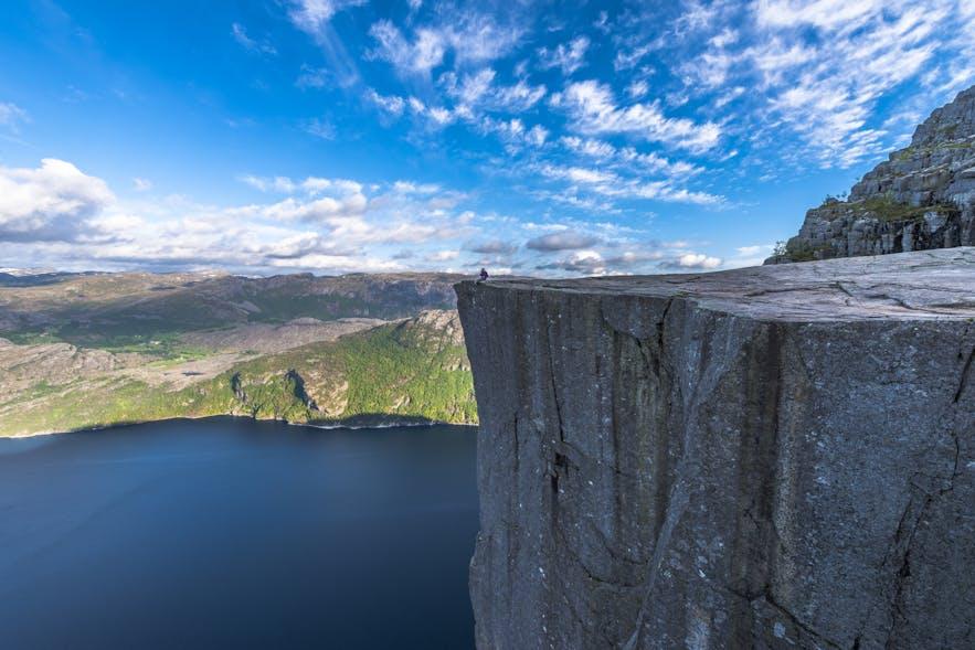 The impressive Preikestolen, also known as Pulpit Rock