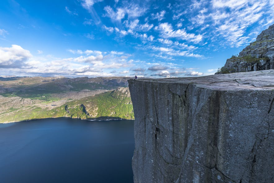 The impressive Preikestolen, also known as Pulpit Rock