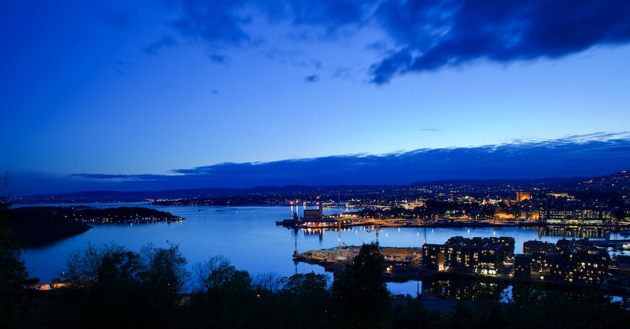 Oslofjord in the evening