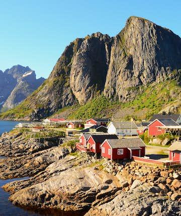 Rorbuer in Hamnøy, Lofoten Islands - by Carina Hansen.
