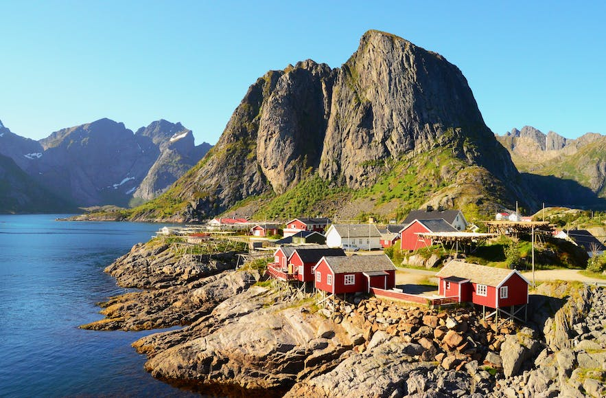 Rorbuer in Hamnøy, Lofoten Islands - by Carina Hansen.