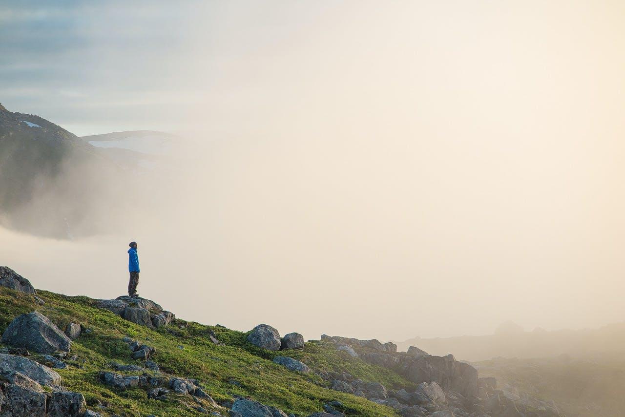 Summiting the tallest mountain on Senja island