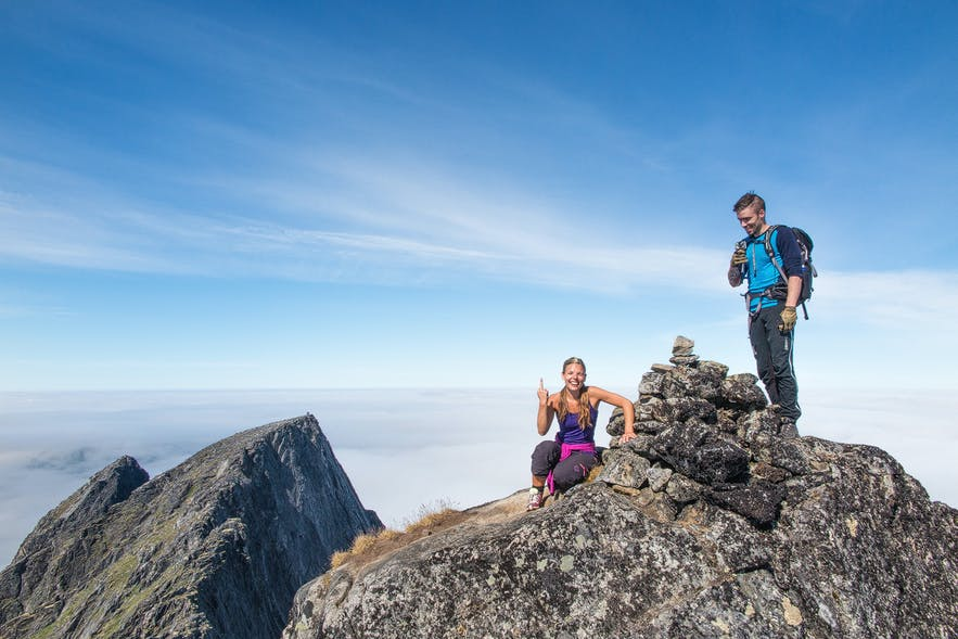 Summiting the tallest mountain on Senja island