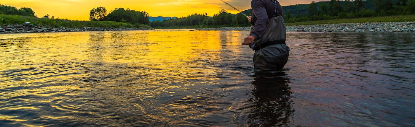 Evening fishing in Stjørdalselva