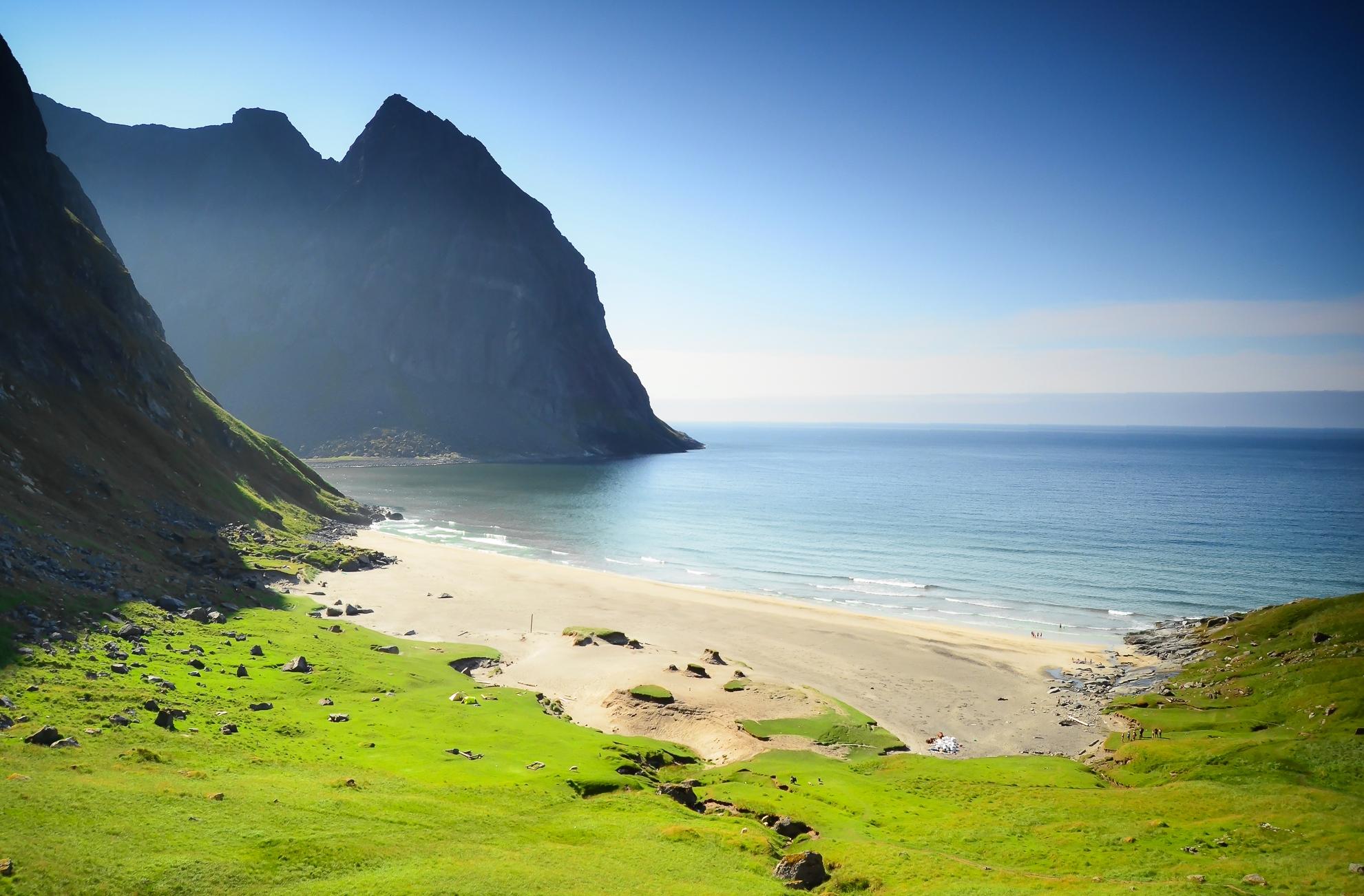 Kvalvika Beach   Hiking in Lofoten Islands   Norway Trave...