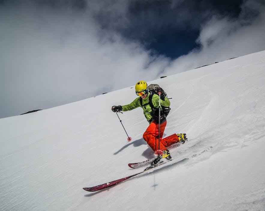 Skiing in June in northern Norway