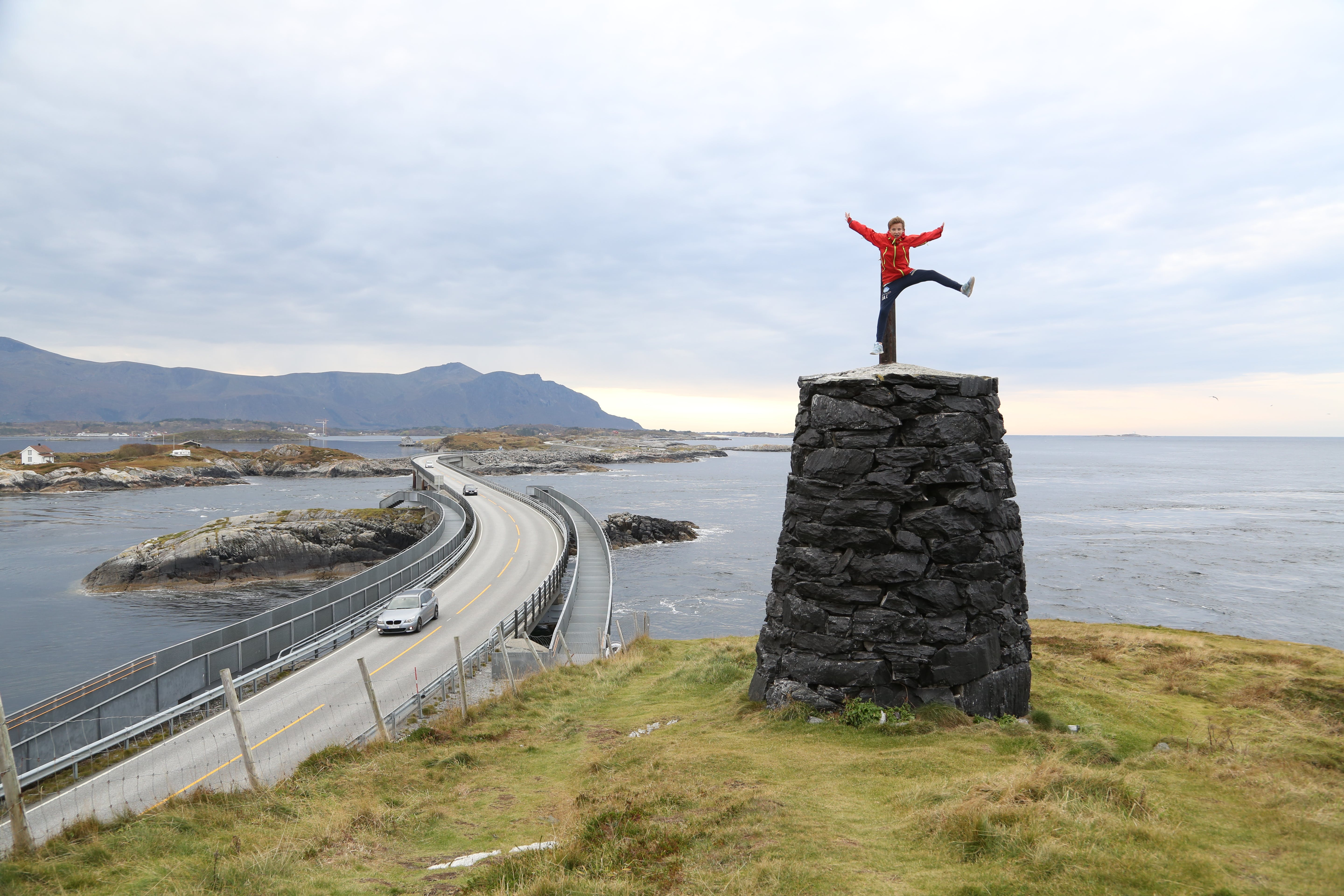 The Atlantic Road - one of the most popular tourist roads in Norway. Photo: Odd Roar Lange