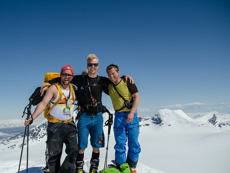 Happy campers at the top. Me in the middle:)