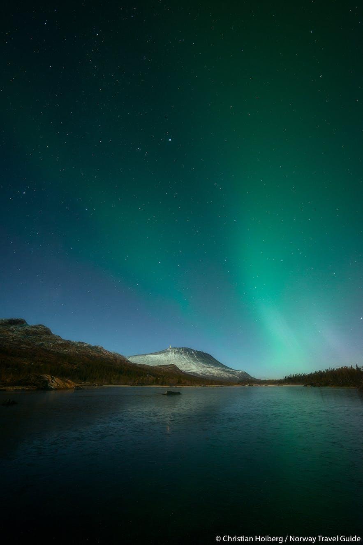 northern lights gaustadtoppen