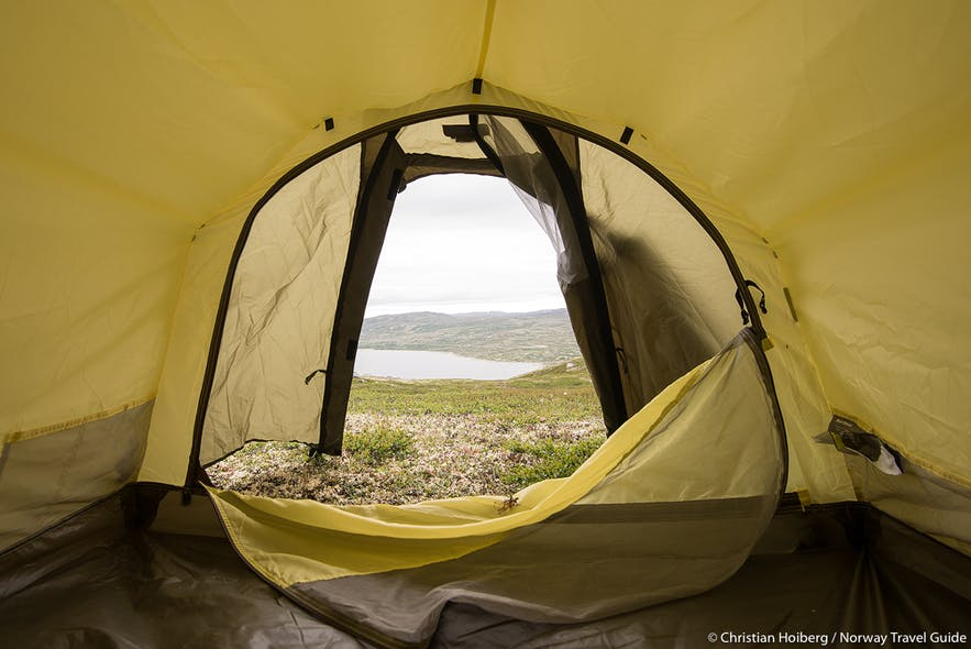 outdoor camping in Norway
