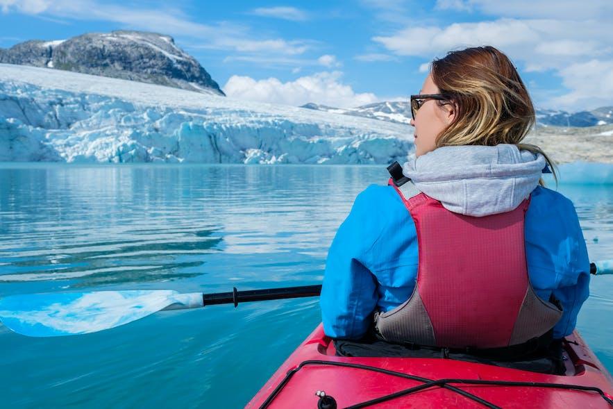 Jostedalsbreen kayak
