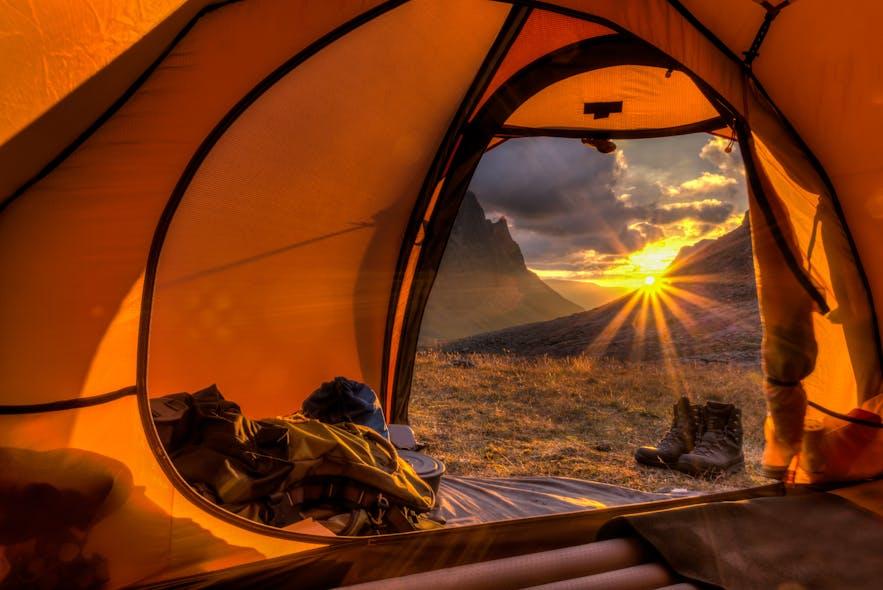 tent in norway