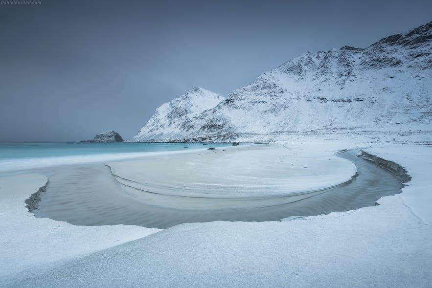 Haukland Beach Winter