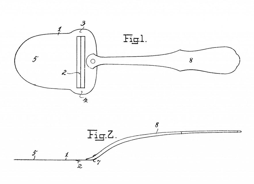 Thor Bjorklund's original cheese slicer patent