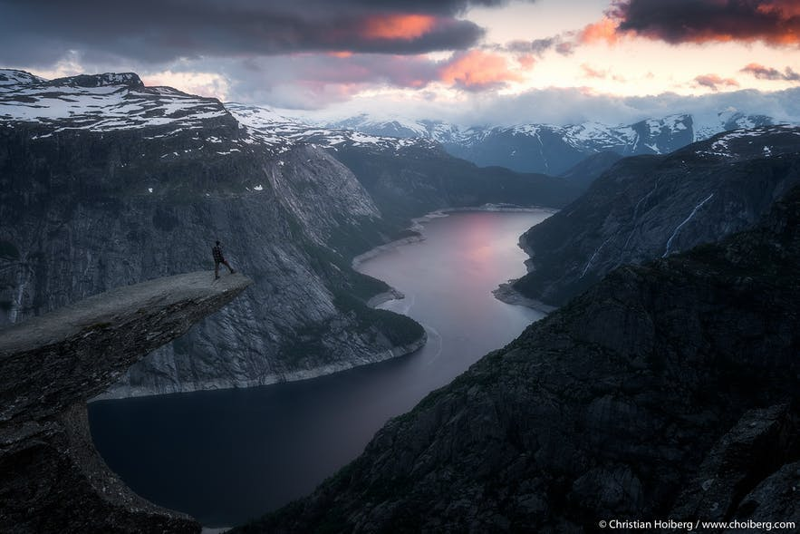 The stunning view from Trolltunga