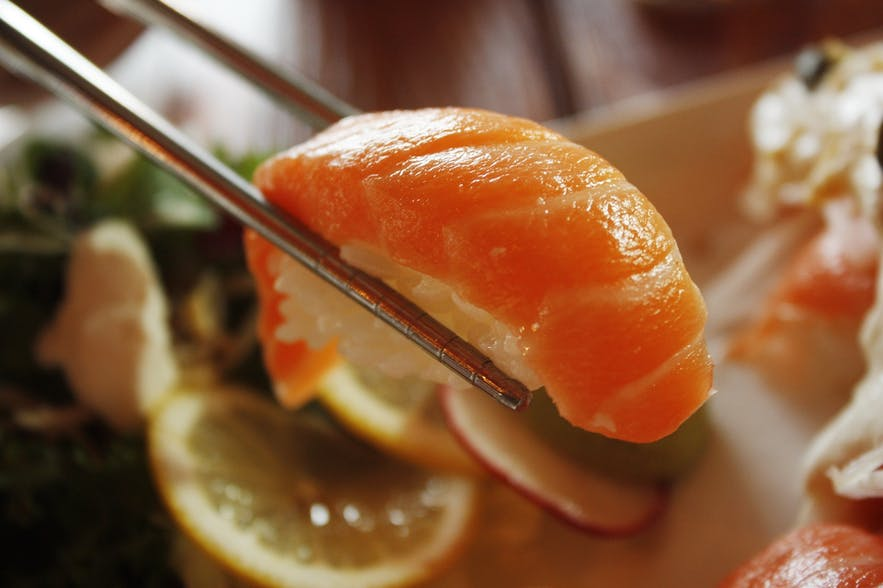 Norwegian salmon in sushi