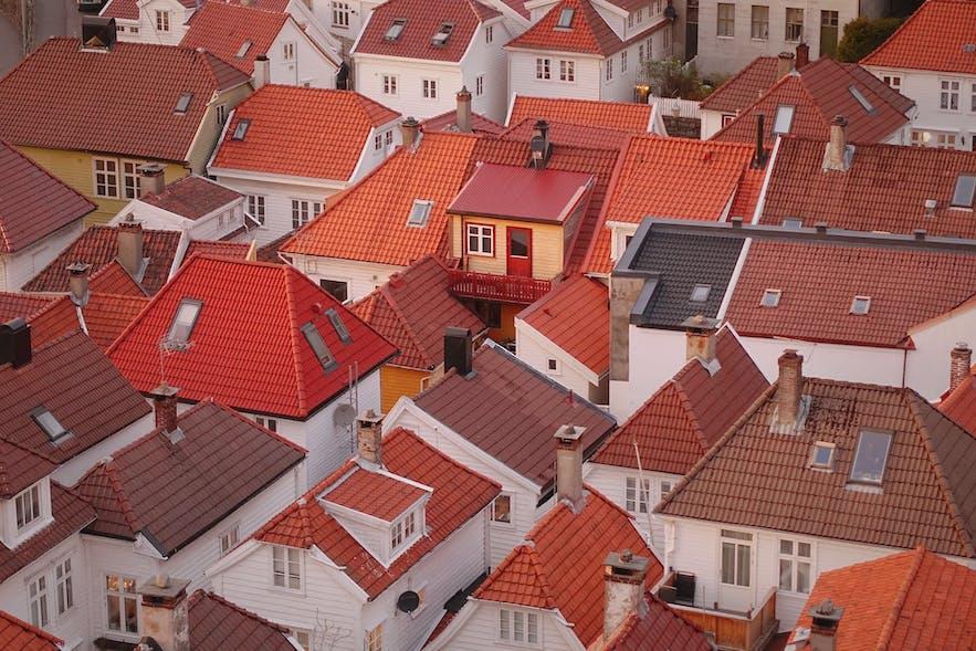 Bergen rooftops