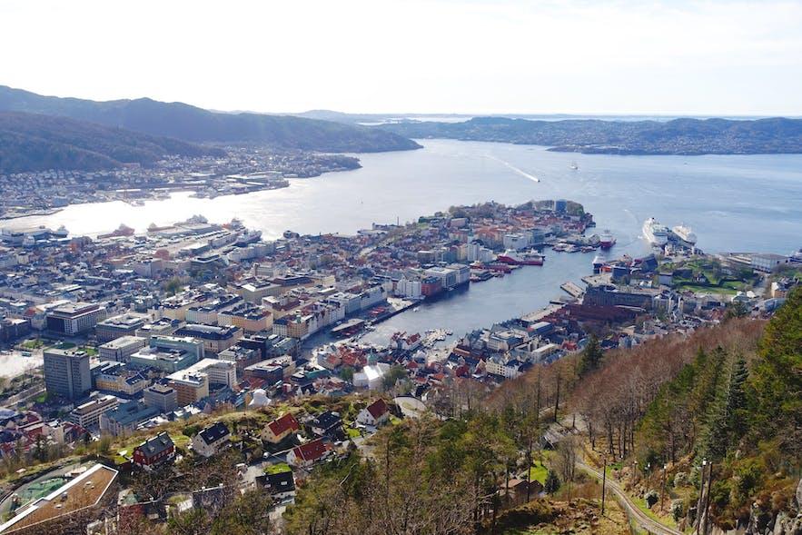Floyen view over Bergen